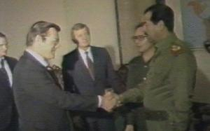 Saddam Hussein was the United States' buddy, even when he was committing war crimes.