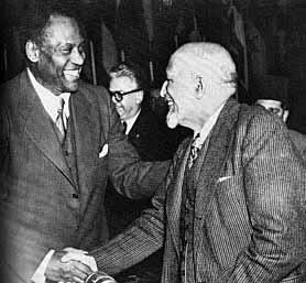 Paul Robeson and W.E.B. Dubois