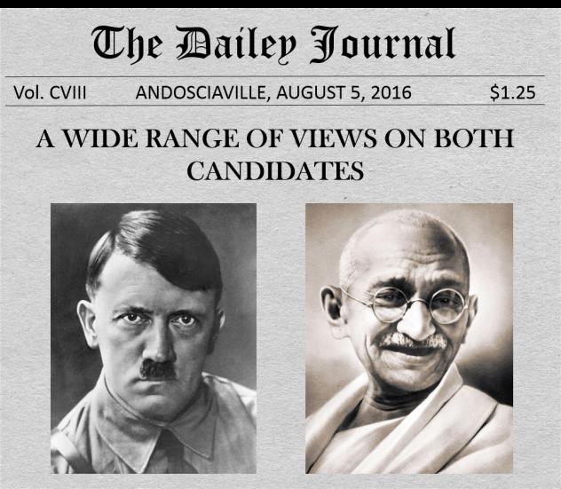 Hitler Gandhi