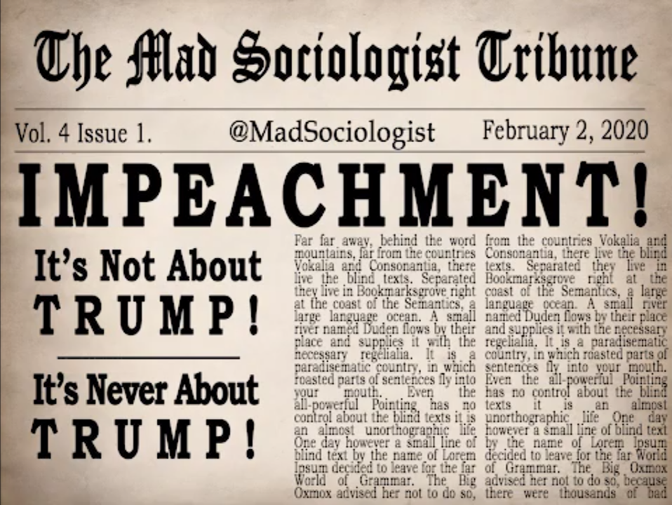 A Non-Trump Analysis of the Impeachment